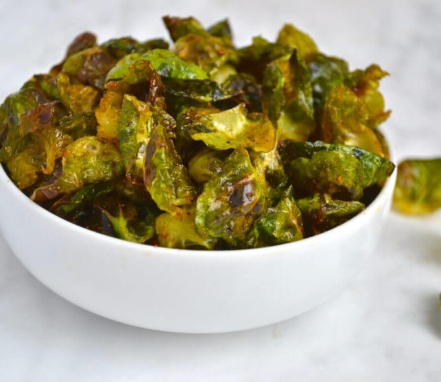 Air Fryer Brussels Sprouts Chips