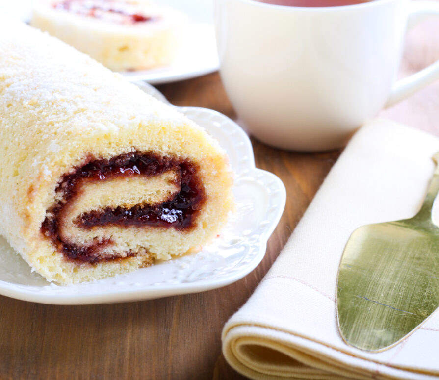 A declious steamed jam roly recipe